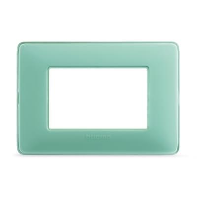 Placca BTICINO Matix 3 moduli tè verde