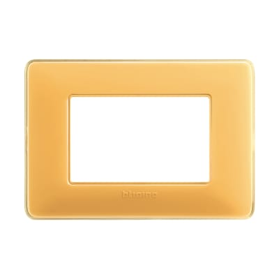 Placca BTICINO Matix 3 moduli ambra