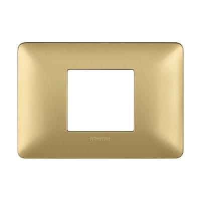 Placca BTICINO Matix 2 moduli gold