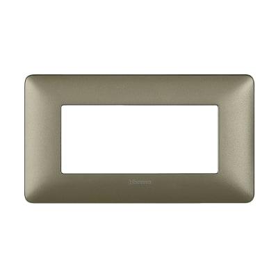 Placca BTICINO Matix 4 moduli titanium