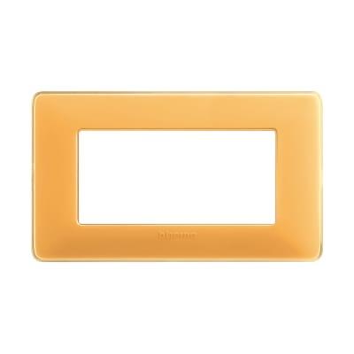 Placca BTICINO Matix 4 moduli ambra
