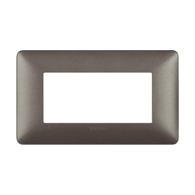 Placca BTICINO Matix 4 moduli iron