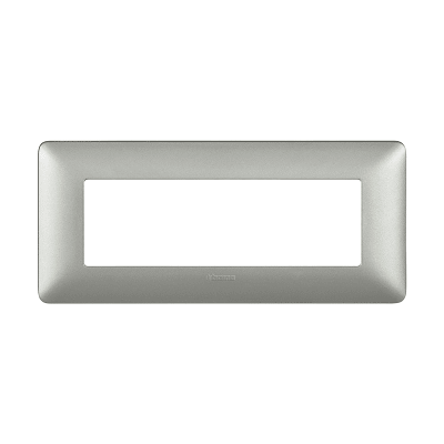 Placca BTICINO Matix 6 moduli argento