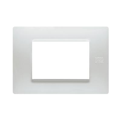 Placca SIMON URMET Nea Flexa 3 moduli bianco