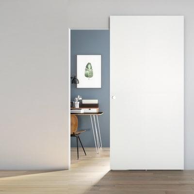 Porta scorrevole con binario esterno Space Matrix Tda in legno laccato Binario nascosto L 101 x H 230 cm dx