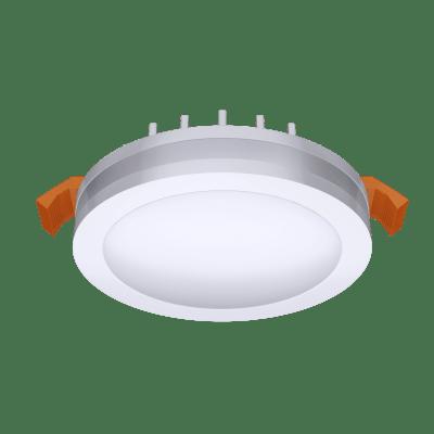 Faretto fisso da incasso tondo Albina in alluminio, bianco, diam. 8.0 cm Diodi LED integrati 6W IP20 INSPIRE