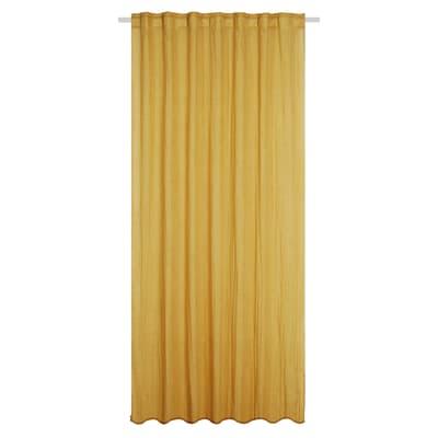 Tenda INSPIRE senape fettuccia con passanti nascosti 135x280 cm