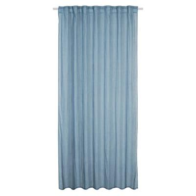 Tenda INSPIRE Soho blu arricciatura con passanti nascosti 135x280 cm