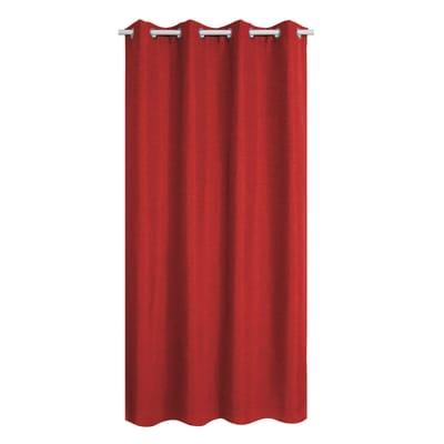 Tenda INSPIRE Oscurante Cardiff rosso anelli 140x280 cm