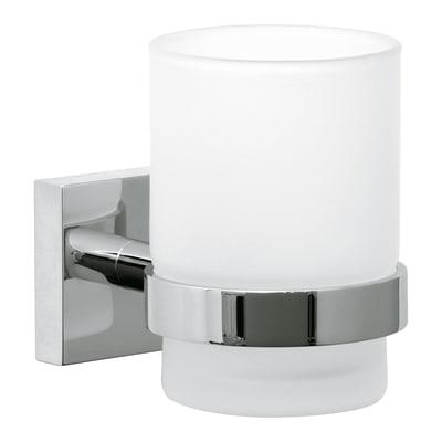 Bicchiere porta spazzolini Ekkro in vetro trasparente