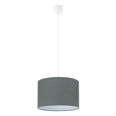 Lampadario Rossano grigio, in sintetico, diam. 29 cm, E27 MAX1x60WW IP20 EGLO