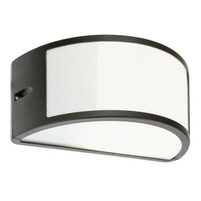 Applique Umbe in alluminio, grigio, E27 MAX60W IP54
