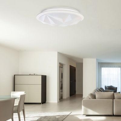 Plafoniera moderno Callisto LED integrato bianco D. 50 cm