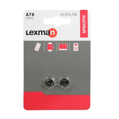 Pila alcalina LR44 LEXMAN 844960 2 batterie