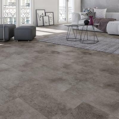 Pavimento pvc flottante clic+ Beton Sp 5 mm grigio / argento