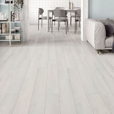 Pavimento PVC flottante clic+ Pure Sp 4.2 mm bianco