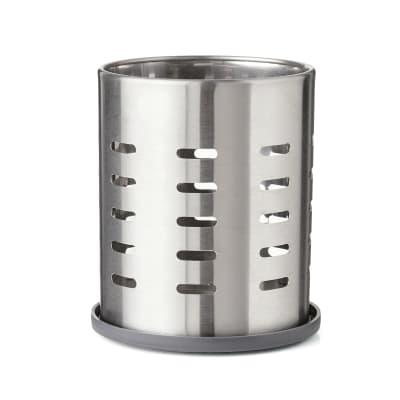 Porta posate in metallo argento 13.3 x 13.3 x 13.3 cm DELINIA