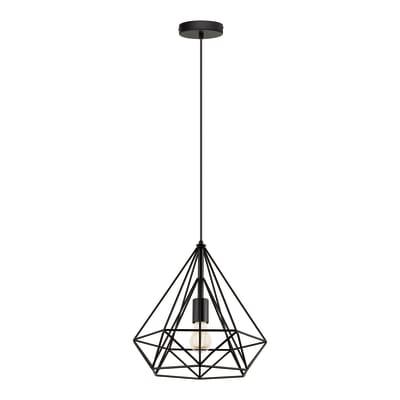 Lampadario Byron nero, in metallo, diam. 37 cm, E27 MAX60W IP20 INSPIRE