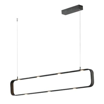 Lampadario Design Moka LED integrato nero, in alluminio, 9 luci, FAN EUROPE