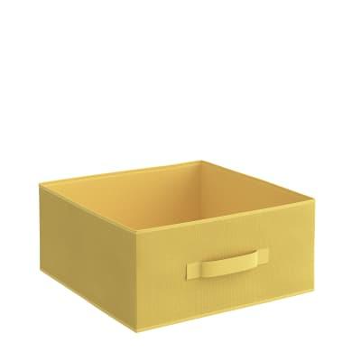Cesto Kub L31 x H 15 x P 15 cm giallo