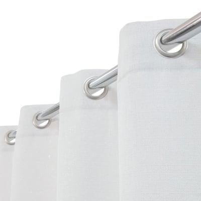 Tenda Lazaro bianco argento occhielli 140 x 280 cm