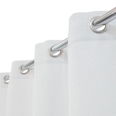 Tenda Lazaro bianco argento occhielli 140x280 cm