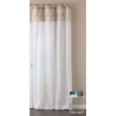 Tenda Maggie bianco passanti nascosti 140 x 280 cm