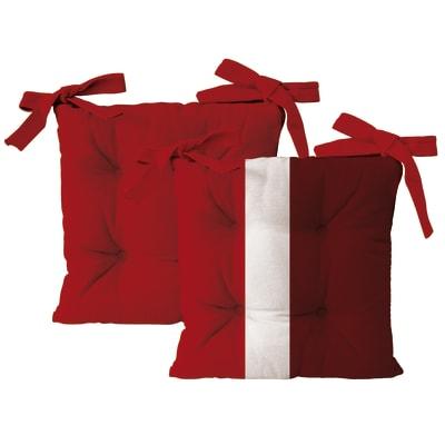 Cuscino per sedia Rigone rosso 40x40 cm, 4 pezzi prezzi e
