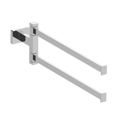 Porta salviette con snodo a muro 2 barre cromo lucido L 24 cm