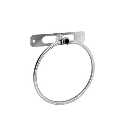 Porta salviette ad anello argento spazzolato L 18.2 cm
