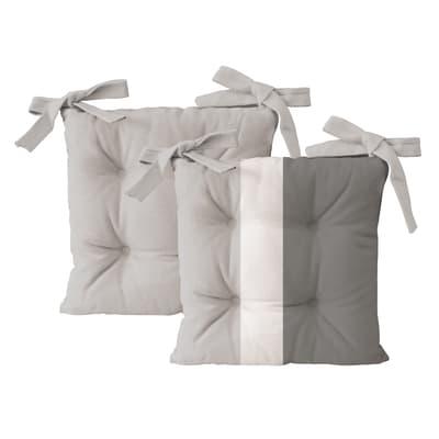 Cuscino per sedia Rigone grigio 40x40 cm, 4 pezzi prezzi e