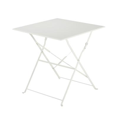 Tavolo da giardino quadrata Flora Origami NATERIAL con piano in metallo L 70 x P 69 cm