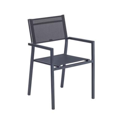 Sedia in alluminio Orion Alpha NATERIAL colore antracite