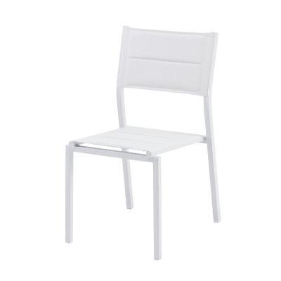 Sedia NATERIAL in alluminio colore grigio chiaro