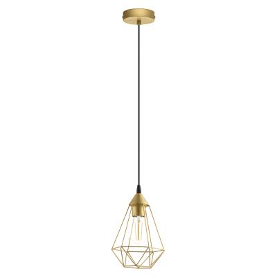 Lampadario Design Byron dorato in metallo, D. 17.5 cm, L. 130 cm, INSPIRE