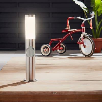 Palo della luce Bergen H50cm in alluminio, acciaio, E27 1xMAX46W IP44 INSPIRE