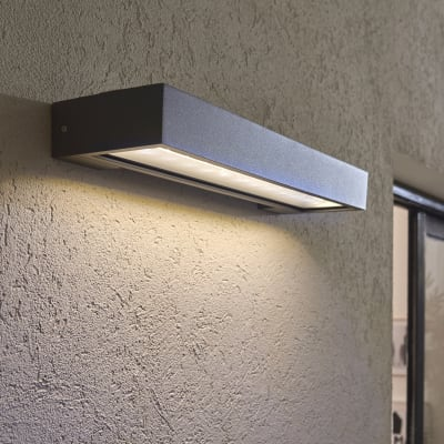 Applique Ipanema LED integrato in plastica argento 2.4W 300LM IP54 INSPIRE