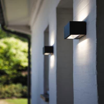 Applique Gemini LED integrato in alluminio, grigio, 20W 1230LM IP54 CALI