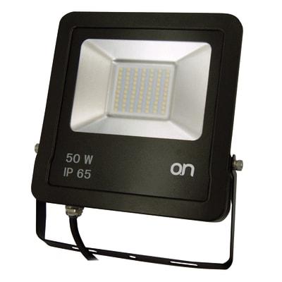 Proiettore LED integrato L.NAT.4000°K in alluminio, nero, 50W 4250LM IP65