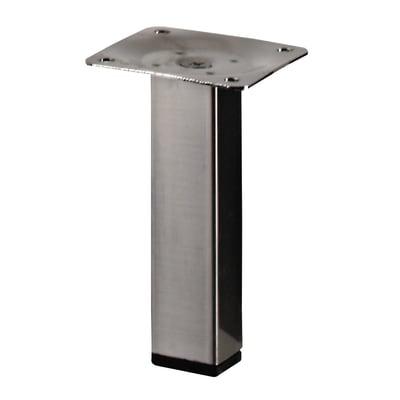 Piedi fissi HETTICH acciaio grigio spazzolato  L 25 cm x H 10 cm