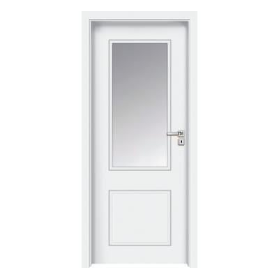 Porta a battente Samui Vetrata bianco L 80 x H 210 cm destra
