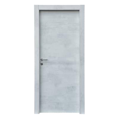 Porta a battente Cemento grigio L 60 x H 210 cm reversibile