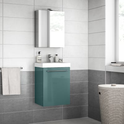 Mobile bagno Remix verde laguna L 45 cm