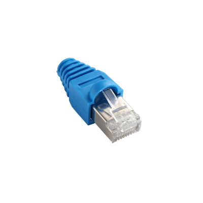 Accessori per telefono, pc e rete RJ45 EVOLOGY 0.04 m blu 12 pezzi