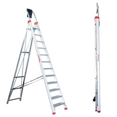 Scala doppia FARAONE Lady in alluminio 12 gradini per lavori fino a 4.49 m