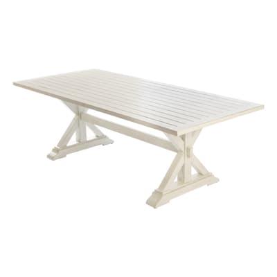 Tavolo da pranzo per giardino rettangolare Charlotte con piano in alluminio L 97 x P 220 cm