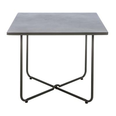 Tavolo da pranzo per giardino quadrato Houston con piano in ferro L 100 x P 100 cm