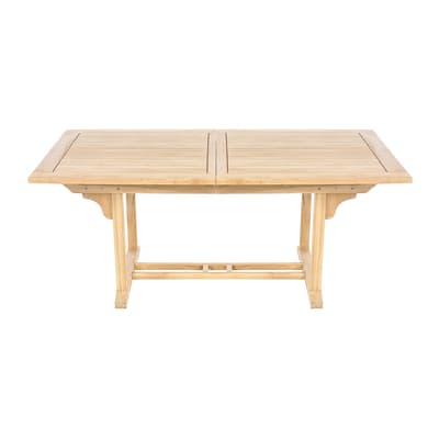 Offerte Tavoli Allungabili Legno.Tavolo Da Giardino Allungabile Con Piano In Legno L 170 X P 100 Cm