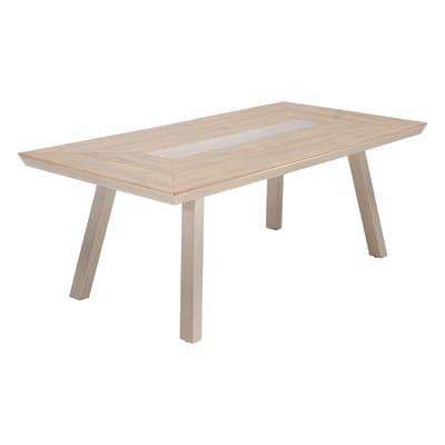 Tavolo da giardino rettangolare Moscow NATERIAL con piano in polywood L 100 x P 200 cm
