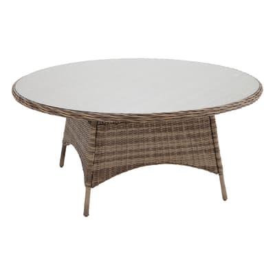 Tavolo da giardino rotondo Bermuda con piano in plastica Ø 166 cm